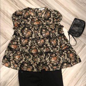 Ro & De floral blouse